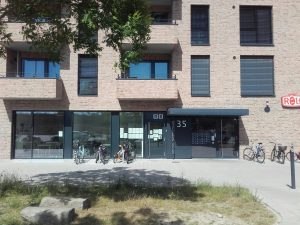 Eingang Unterstützung im Quartier Überseestadt